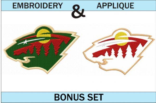 Minnesota-Wild-logo-embroidery-and-applique-designs-bonus-set