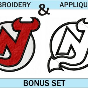New-Jersey-Devils-logo-embroidery-and-applique-designs-bonus-set