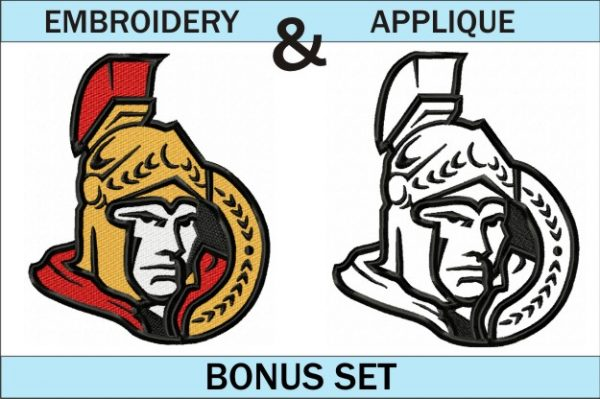 Ottawa Senators - Machine Embroidery and Applique designs - NHL Logo - 10 sizes included - Instant Digital Download