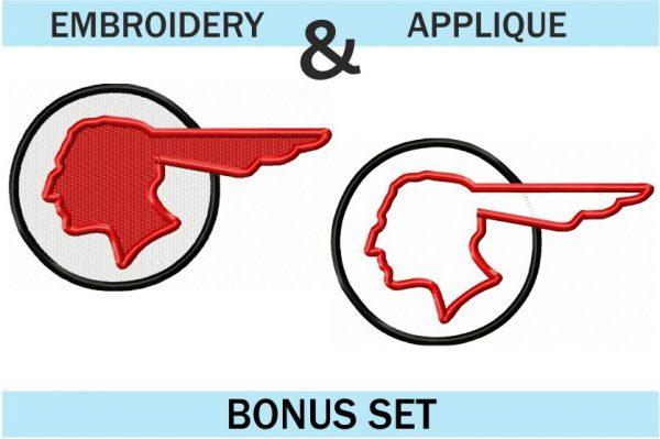 Pontiac-Indian-Head-Logo-Embroidery-and-applique-set
