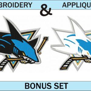 San-Jose-sharks-logo-embroidery-and-applique-designs-bonus-set