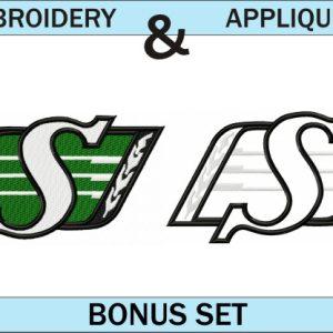 Saskatchewan-Ruffriders-logo-embroidery-and-applique-designs-bonus-set