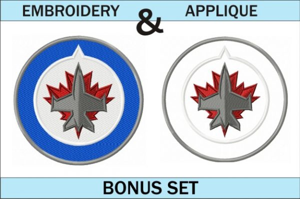 Winnipeg-Jets-logo-embroidery-and-applique-designs-set