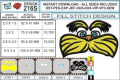 lorax-fill-stitch-embroidery-design-infochart