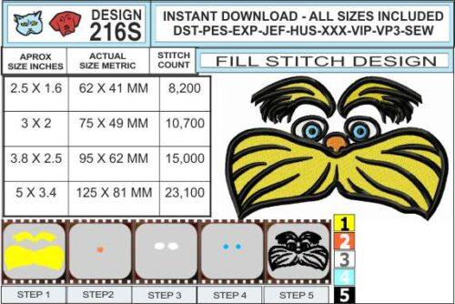 lorax-fill-stitch-embroidery-design-infochart