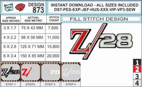 camaro-z28-embroidery-logo-infochart