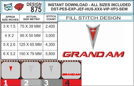 pontiac-grand-am-logo-embroidery-design-infochart