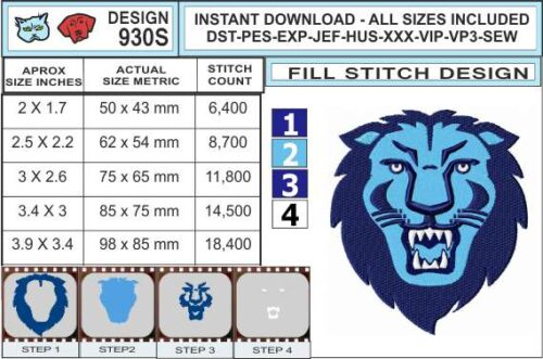 columbia-university-lion-embroidery-design-infochart