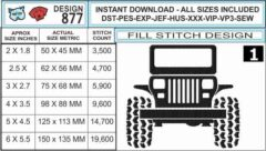 jeep-square-headlight-embroidery-design-infochart