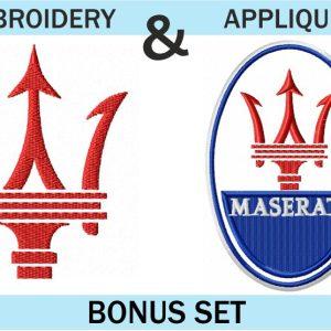 Maserati-Logo-embroidery-&-applique-designs-set