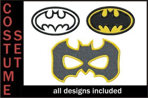 Batman-Embroidery-Costume-Set