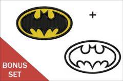 Batman Logo Embroidery & Applique designs Bonus set