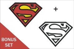 Superman-Logo-Embroidery-&-Applique-Designs Bonus set