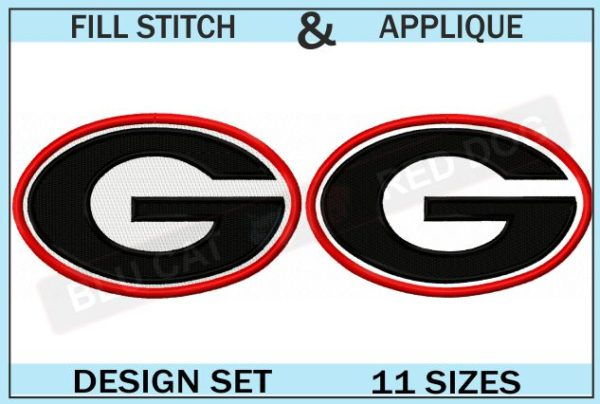 georgia-bulldogs-embroidery-logo-set-blucatreddog.is