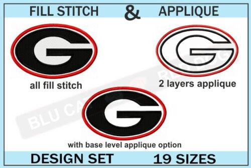 georgia-bulldogs-embroidery-logo-set-of-19-sizes-blucatreddog.is