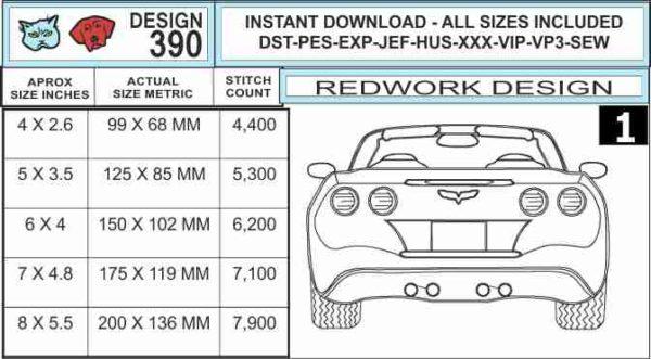 corvette-c6-rear-end-redwork-embroidery-design-specs