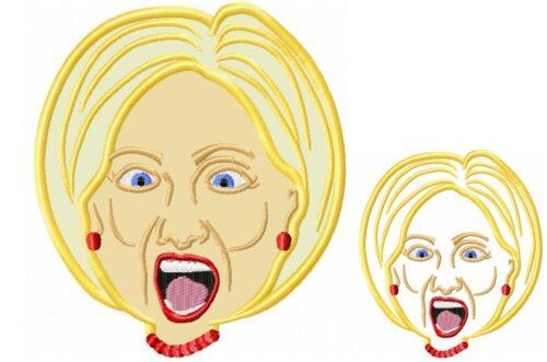 Hilary-Clinton-Applique-Embroidery-design