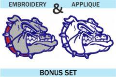 Gonzaga-bulldog-embroidery-logo-set-applique-and-fill-stitch