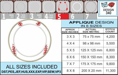Baseball-applique-frame-embroidery-design-infochart
