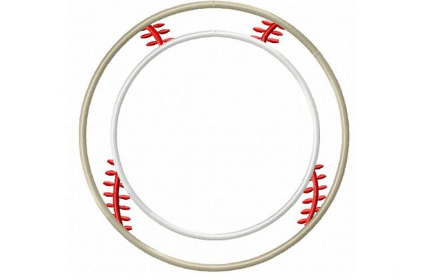 Baseball-applique-frame-embroidery-design