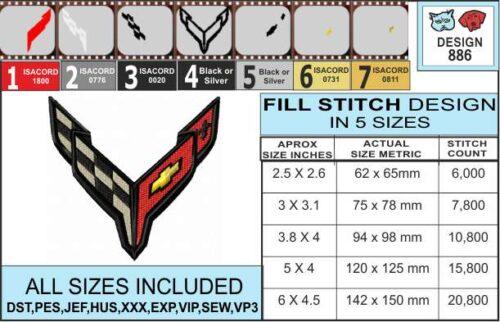 corvette-c8-embroidery-design-infochart