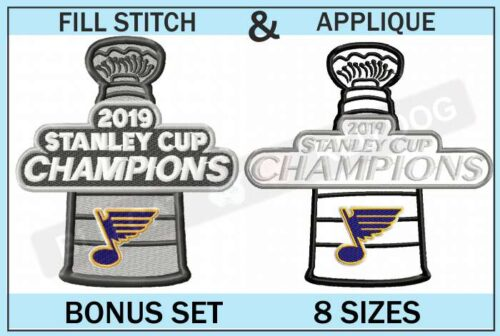 blues-stanley-cup-embroidery-set-blucatreddog.is