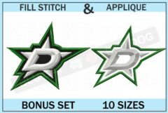Dallas-stars-embroidery-logo-set-blucatreddog.is