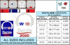 Bernie-2020-embroidery-design-infochart
