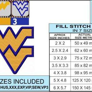 west-virginia-university-embroidery-design-infochart