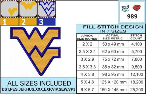 west-virginia-university-embroidery-design-infochart