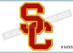 SC-college-logo-embroidery-design-blucatreddog.is