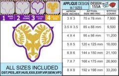west-chester-rams-embroidery-design-infochart