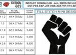 resist-fist-embroidery-design-infochart