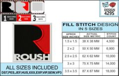 mustang-roush-embroidery-design-infochart
