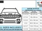 jeep-compass-embroidery-design-infochart